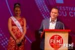 Discours de Jocelyn SAPOTILLE, Maire de Lamentin accompagné de la Miss 2016 Aurélie BASILE