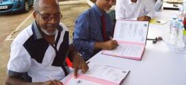 Signature de la Convention CGOSH et Ravine Chaude