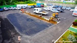 Agrandissement du parking du Pole Administratif de la Ville. Année 2018