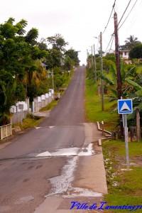 Réalisation de ralentisseurs route de Grossou. Année 2018