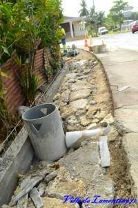 Travaux assainissement bas du bourg. Année 2015