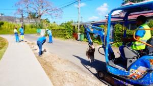 Réfection de la route de Blacon . Le 16 Mars 2018