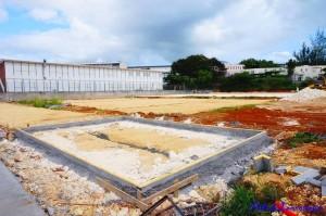 Construction du Complexe Spotif de Blachon. Année 2016