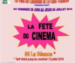 La Fête du Cinéma – Du Vendredi 28 Juin au 04 Juillet 2019