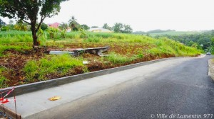 Elargissement de la chaussée route de Chabert. Année 2017