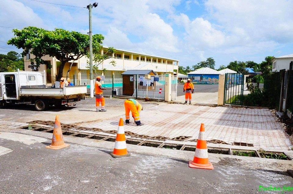 Réfection du parking de l'Ecole de Castel. Année 2015