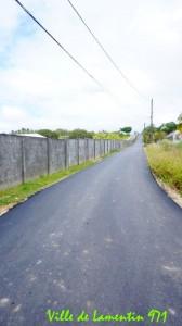 Réfection de la route de Cafeière Vincent. Année 2018