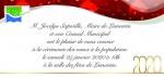Invitation à la Cérémonie des voeux du Maire à la population.