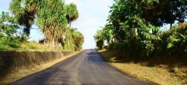 Réfection de la route de Ravine Chaude.